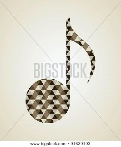 Music design over beige background vector illustration