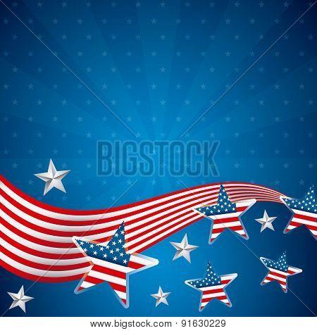 USA design over blue background vector illustration
