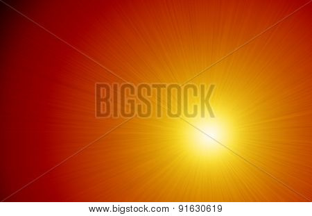 Intense Light Ray Sunshine Background