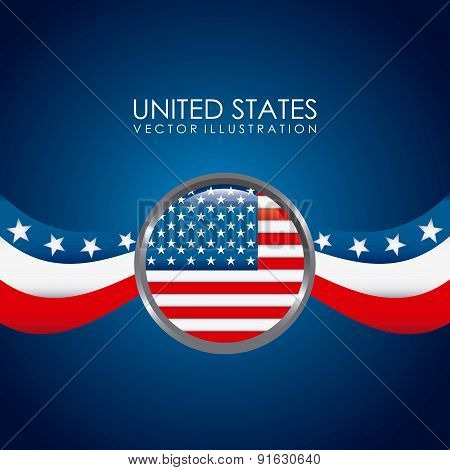 USA design over  background vector illustration