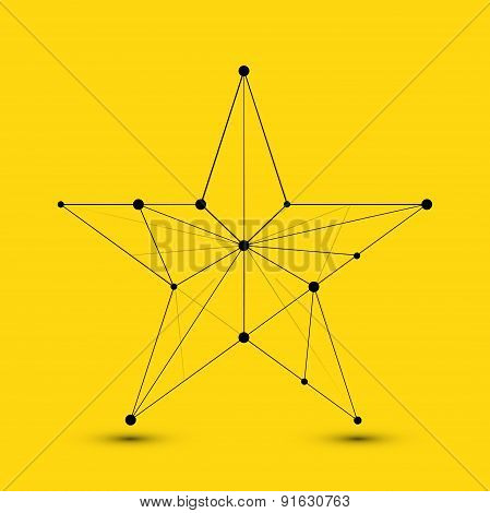 Vector modern abstract polygonal star
