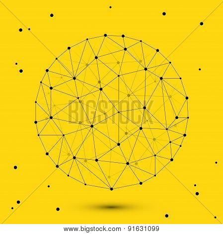 Vector modern circle polygonal space