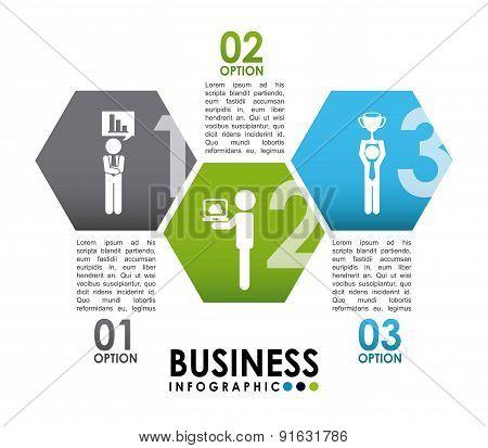 Business design over white background vector illustration