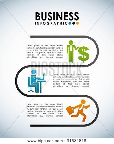 Business design over gray background vector illustration