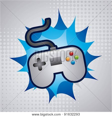 Video game design over background vector illustration