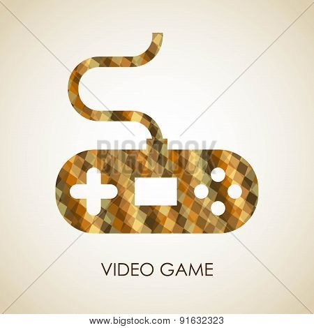 Video game design over beige background vector illustration