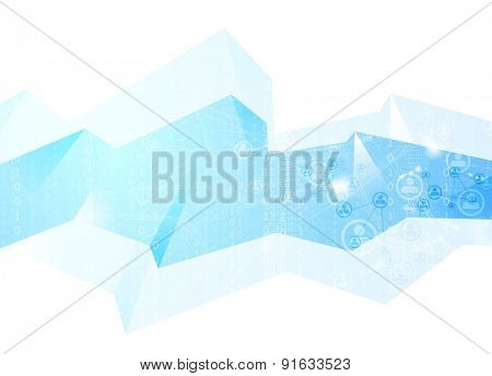 Team communication concept geometric background. Vector tech design