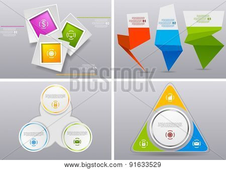 Abstract infographics bright design. Vector background