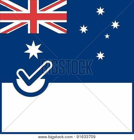 Voting Symbol Australia Flag