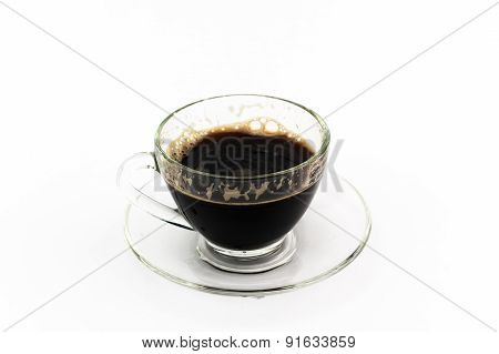 Black Coffee In Transparent Mug