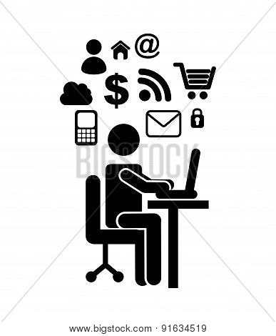 Social media design over white background vector illustration