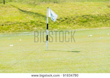 Quba - MARCH 26, 2015: Golf Course at Quba Rixos Hotel on March 26 in Azerbaijan, Quba. Rixos hotel offers the only golf range in Azerbaijan