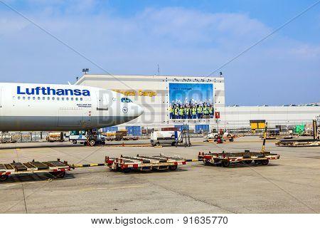 Lufthansa Cargo Flight Ready For Loading