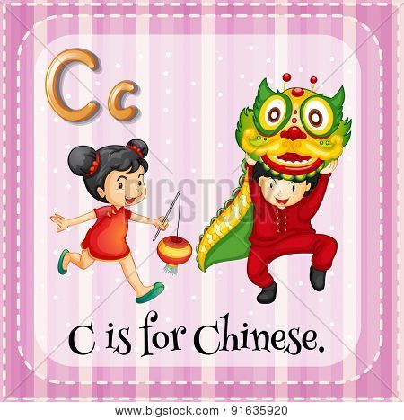 Flashcard letter C is for Chinese