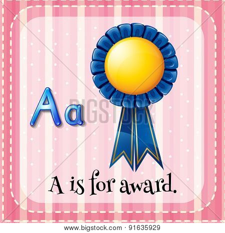 Flashcard letter A is for award