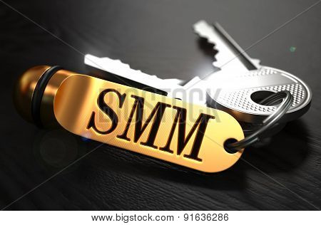 SMM Concept. Keys with Golden Keyring.