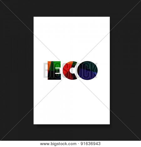 Flyer or Cover Design for Your Business with Colorful ECO Label