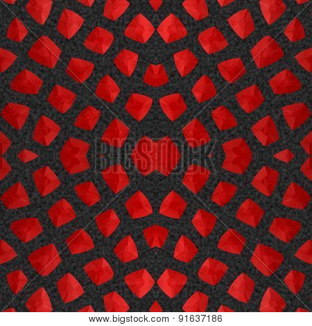 Abstract Red Garnet Stone Mosaic Or Background Made Seamless