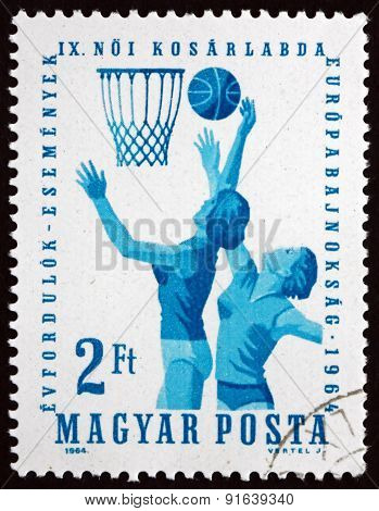 Postage Stamp Hungary 1964 Women's Basketball