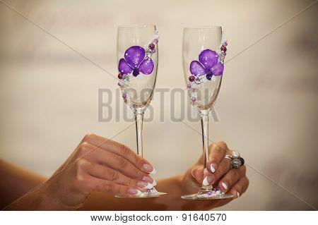 Wedding Glasses In Hands