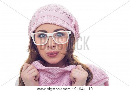 Freezing Girl With Scarf