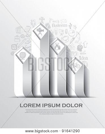 Modern arrow business template. Vector illustration.