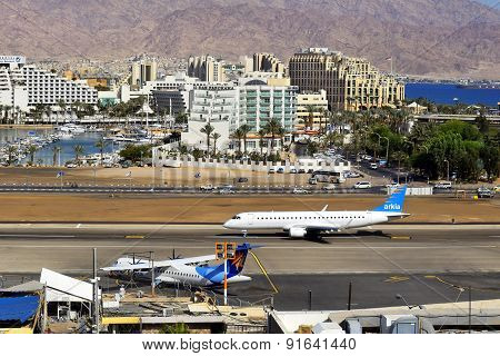 Airport And Luxurious Hotels In Eilat, Israel