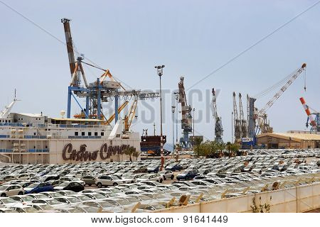 Cargo Port And New Cars For Sale, Eilat, Israel