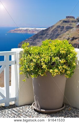 Balcony With A Beautiful View, Santorini