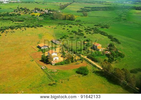 Farmhouse Seen From Above