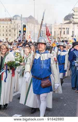 Spring Parade Of Guilds In Zurich