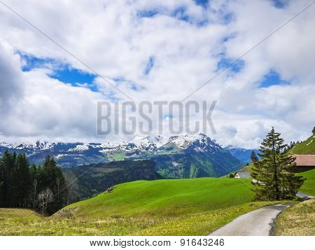 Mountains Of Swiss Alps