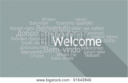 Welcome Tag Cloud in vector format.