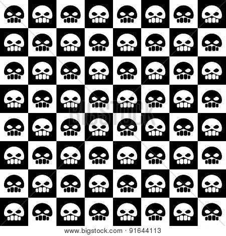 skull repeating pattern
