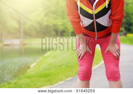 Tired Female Runner.