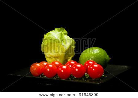 Lettuce, Lime And Tomato