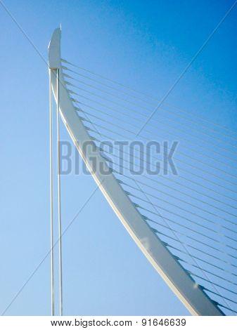 Valencia Spain - circa August 2009: an external detail of a concrete curved shape