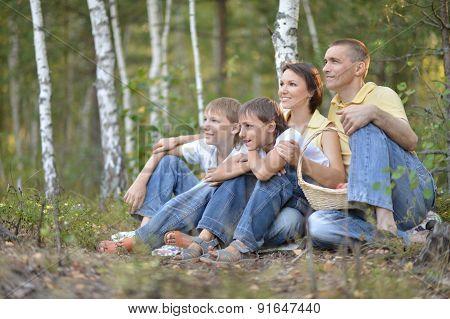 Beautiful happy family relaxing