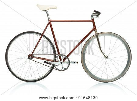 Stylish Hipster Bicycle - Fixed Gear Isolated On White