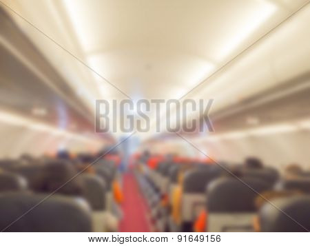 Abstract blur  Plane cabin