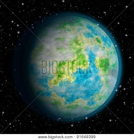Abstract Earth Planet Generated Texture