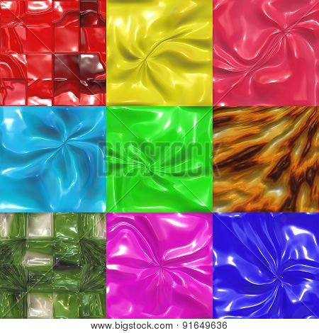 Set of Sweet Candy Tiles Textures