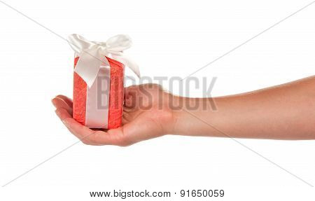 Gift in the female hand
