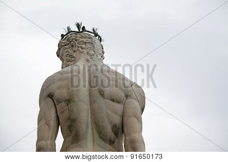 Back View Of Neptune Statue