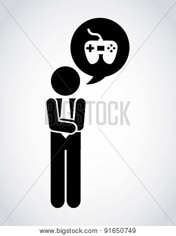 Videogame design over gray background vector illustration