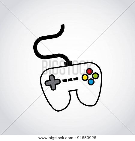 Videogame design over white background vector illustration