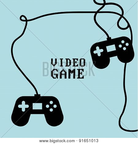 Videogame design over background vector illustration