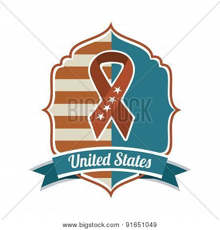 USA design over  white background vector illustration