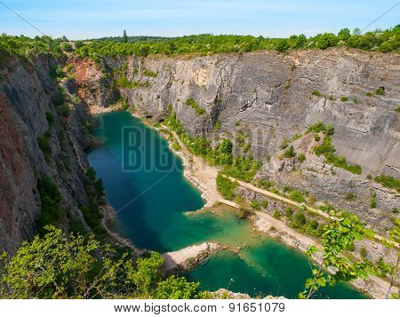 Old lime quarry called Big Amerika