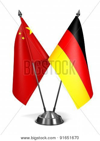 China and Germany - Miniature Flags.